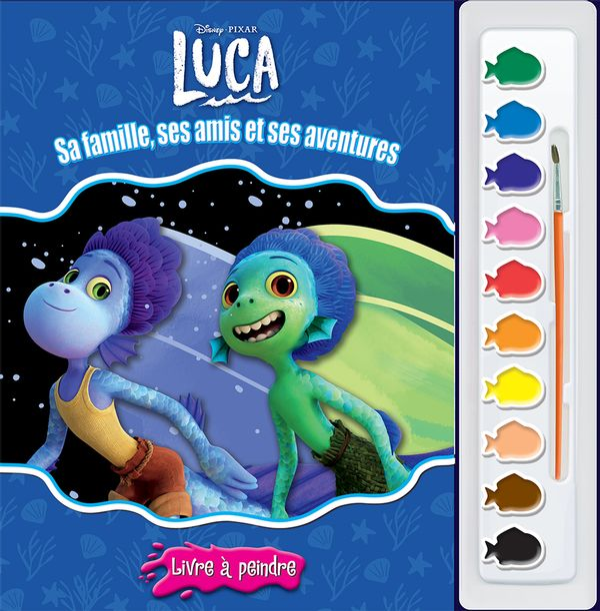 Luca - Sa famille, ses amis et ses aventures : Livre à peindre