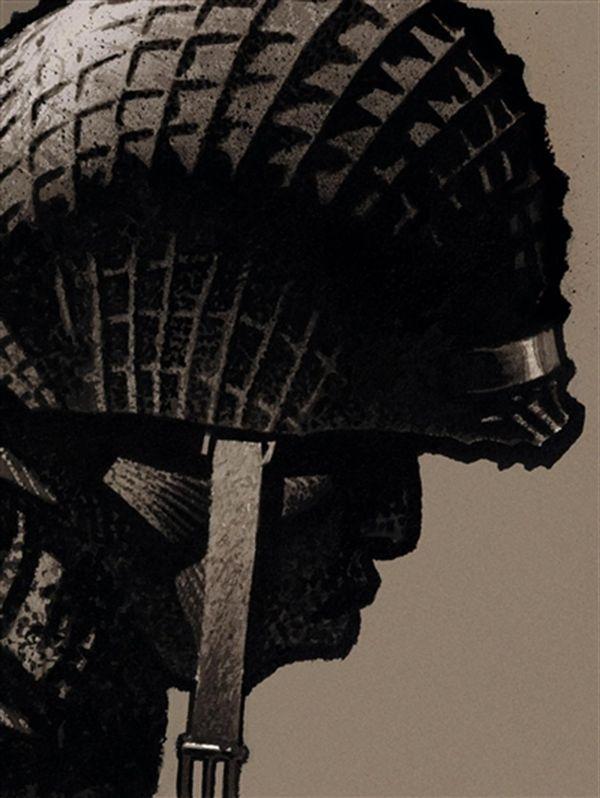 Cinq branches de coton noir : édition limitée N/B