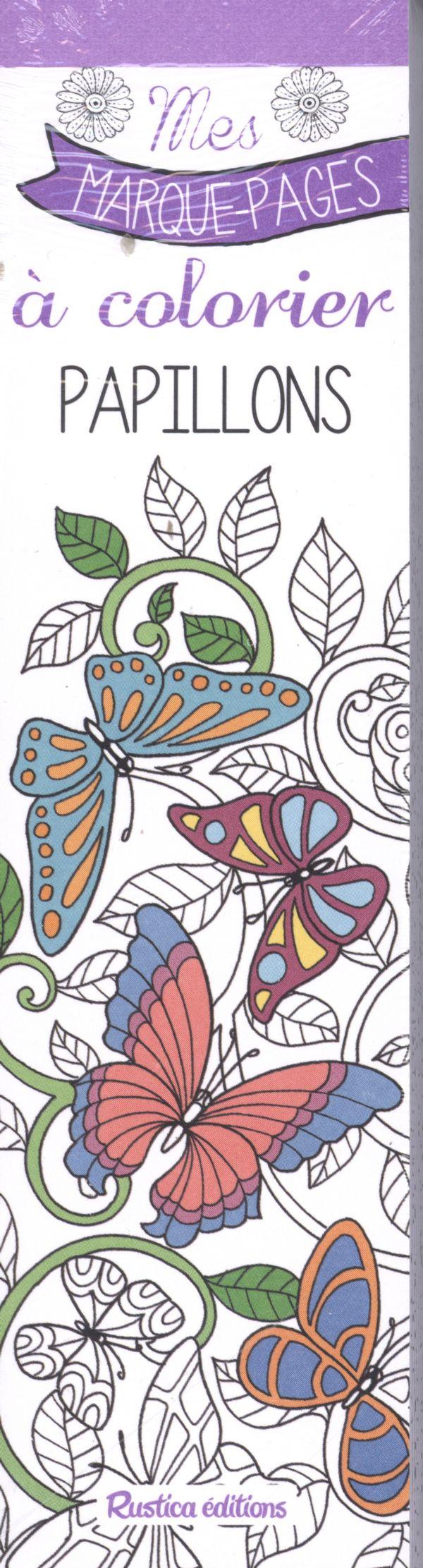 Papillons mes marque pages colorier distribution - Papillons a colorier ...