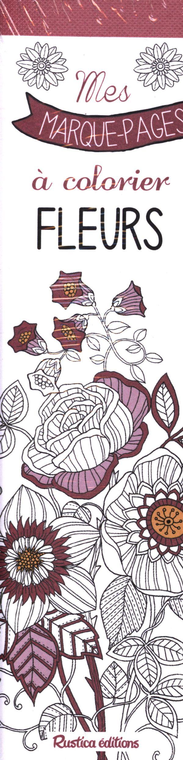 Mes marque pages  colorier Fleurs