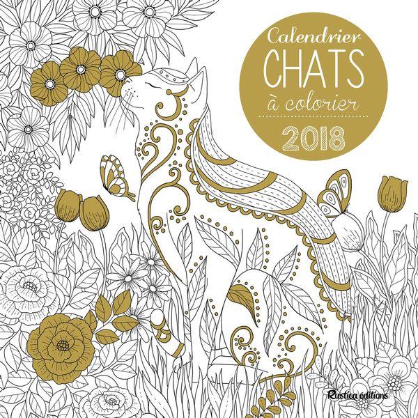 Calendrier Chats à colorier 2018