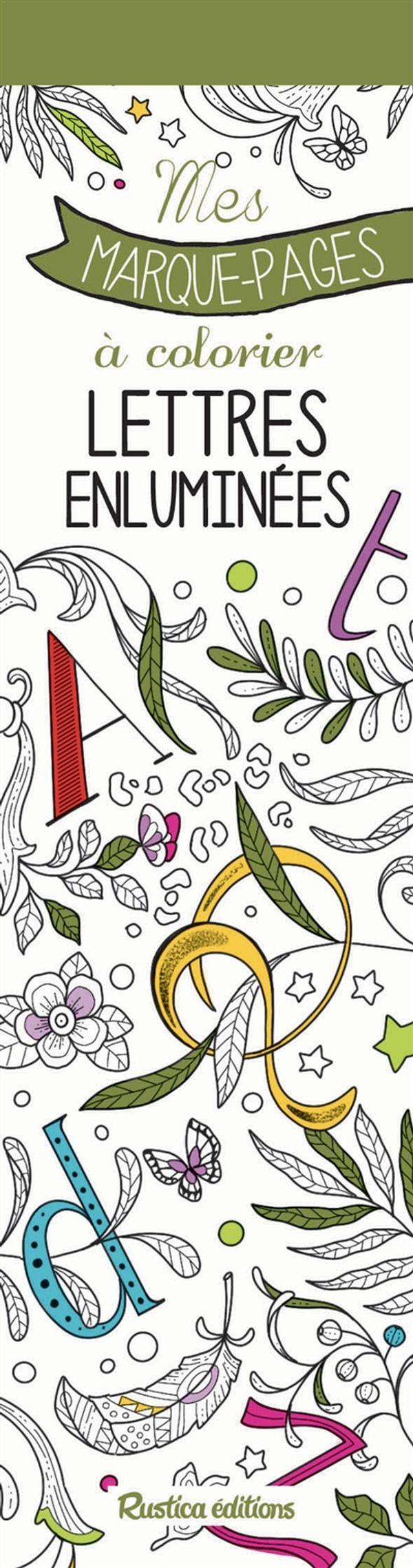 Mes marque-pages à colorier - Lettres enluminées
