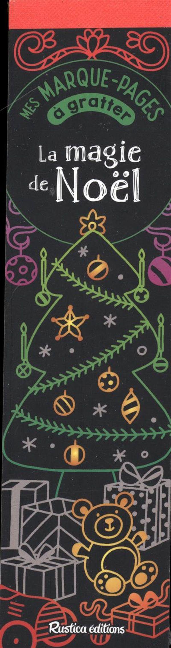 Mes marques-pages à gratter - La magie de Noël