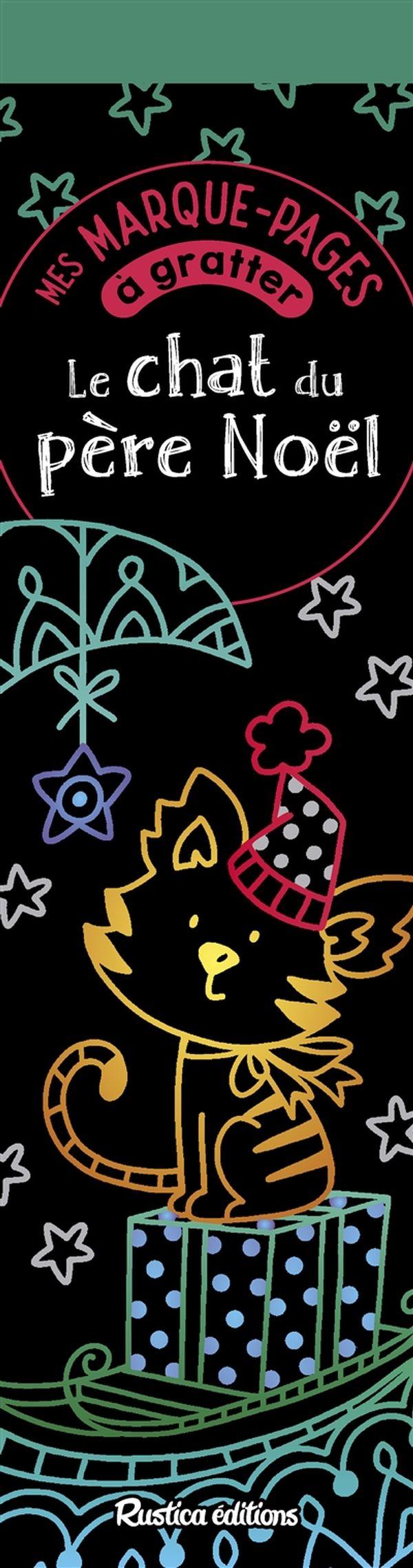 Mes marque-pages à gratter - Le chat du Père Noël