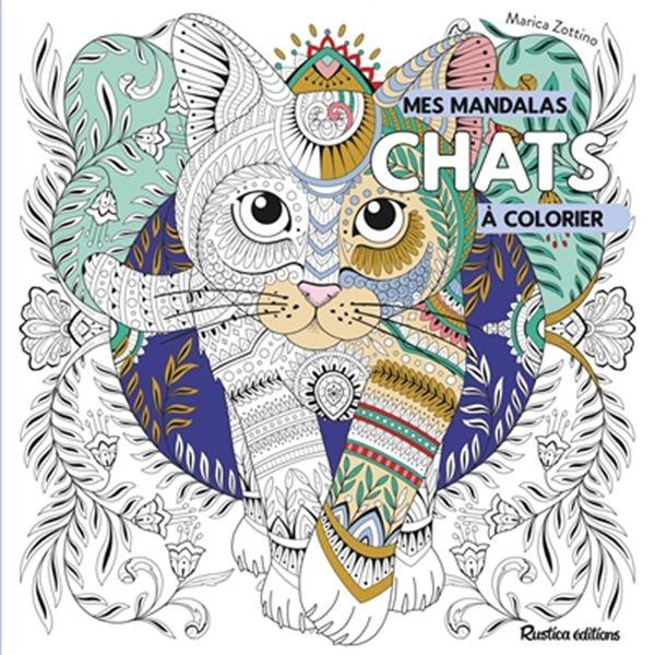 Mes mandalas à colorier : chats