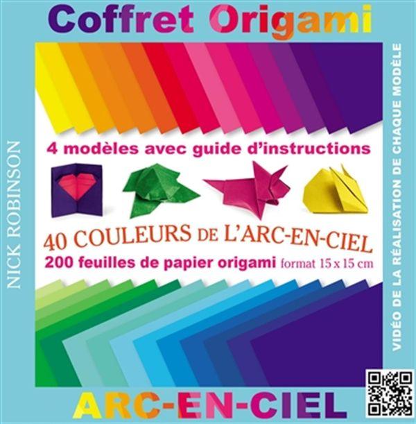 Coffret origami 40 couleurs de l 39 arc en ciel distribution prologue - Origami grenouille sauteuse pdf ...