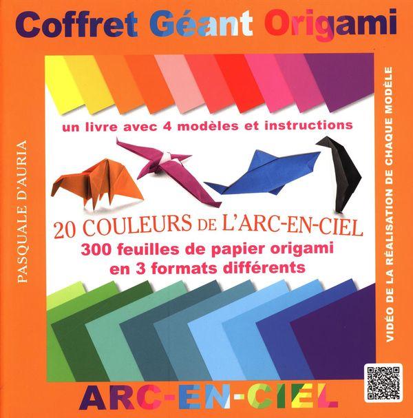 Coffret Géant Origami : 20 Couleurs de l'Arc-en-ciel