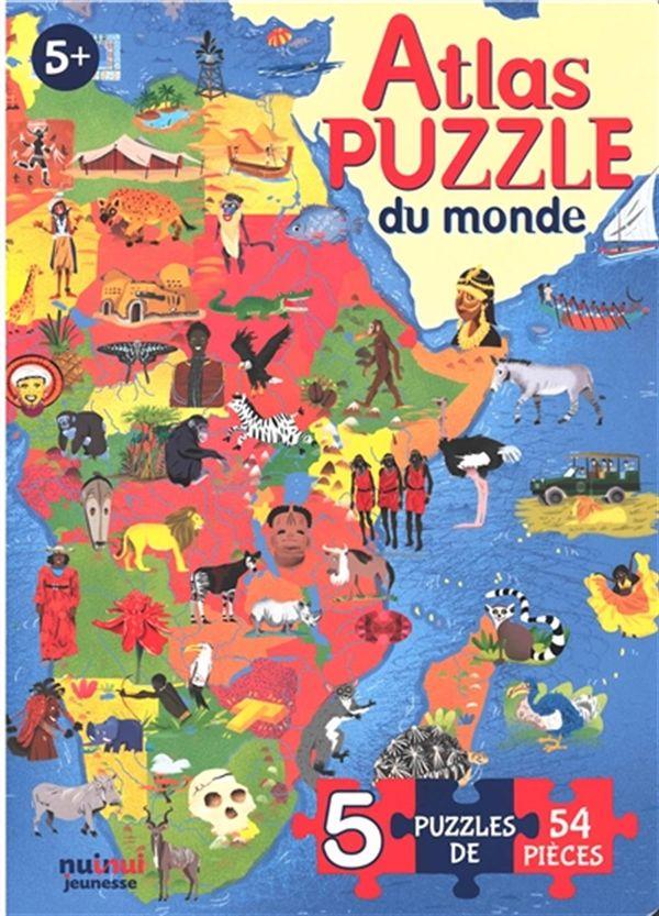 Atlas puzzle du monde