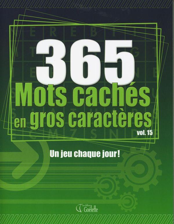 365 Mots cachés en gros caractères 15