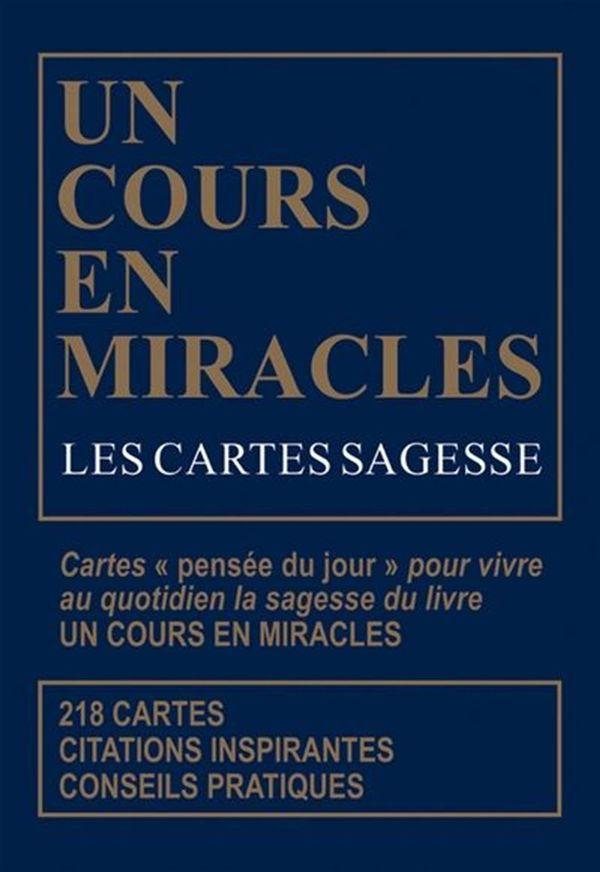 Cartes sagesses d'UN cours en miracles Les N.E.