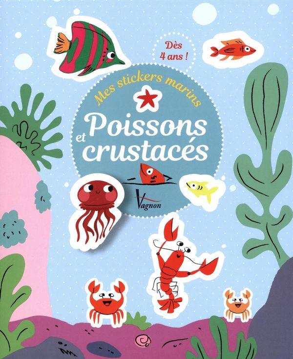 Mes stickers marins : Poissons et crustacés