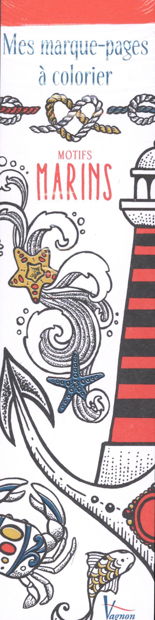 Mes marque-pages à colorier - Motifs marins