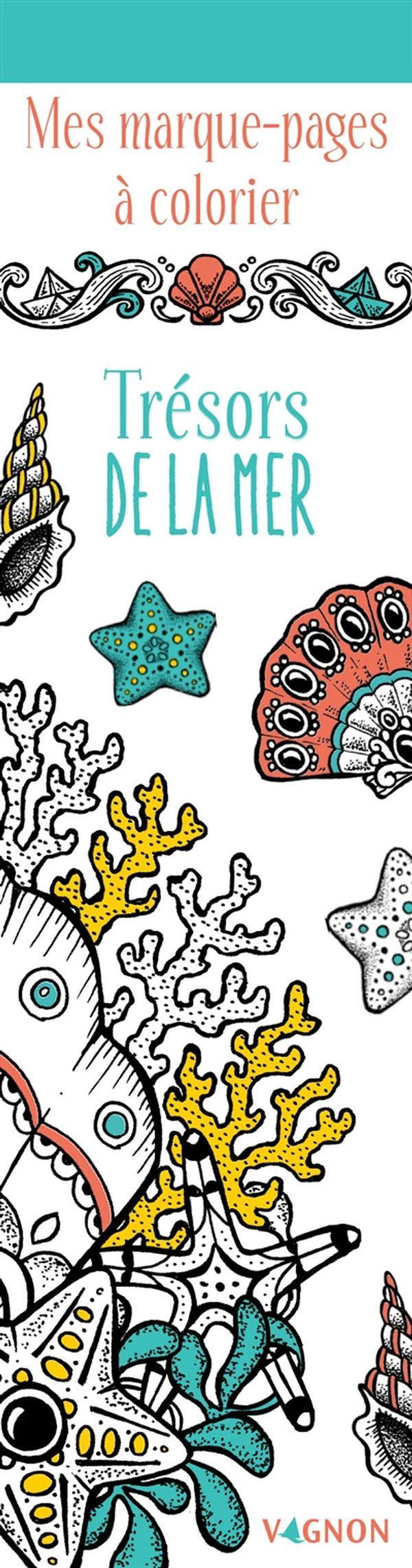 Trésors de la mer N.E. : Mes marque-pages à colorier