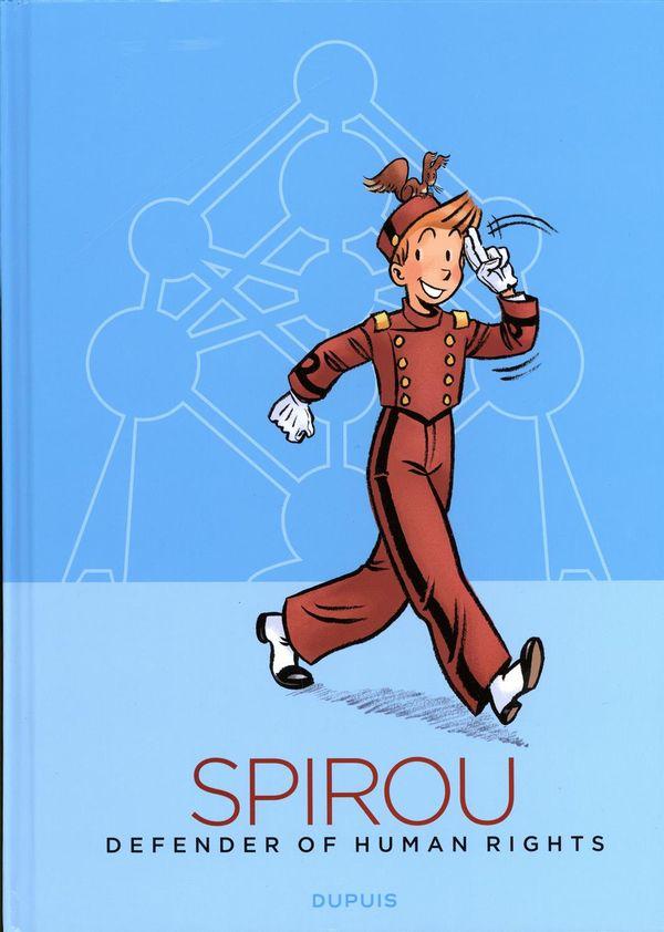 Spirou, défenseur des droits de l'homme édition atomium en anglais