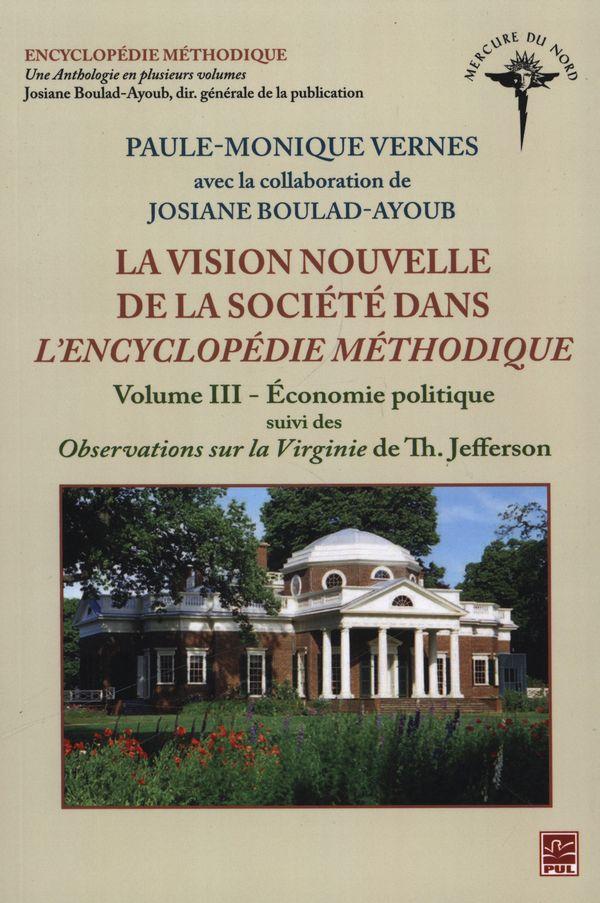 Vision nouvelle de la société dans L'Encyclopédie méthodique
