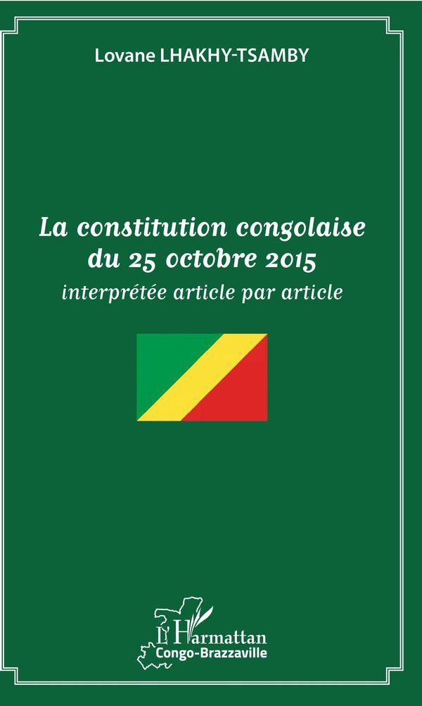 La constitution congolaise du 25 octobre 2015
