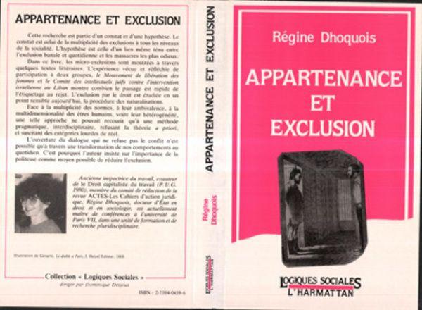 Appartenance et exclusion