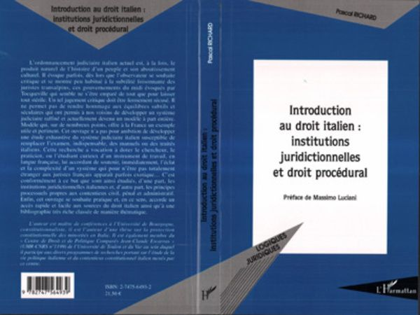 Introduction au droit italien