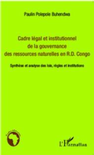 Cadre légal et institutionnel de la gouvernance des ressourc