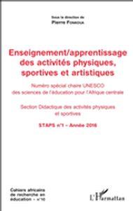 Enseignement / apprentissage des activités physiques, sportives et artistiques