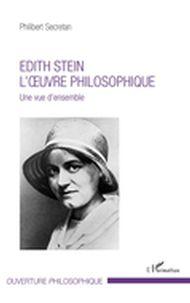 Edith Stein. L'oeuvre philosophique