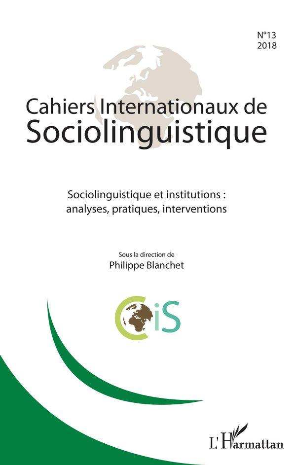Cahiers Internationaux de sociolinguistique n°13