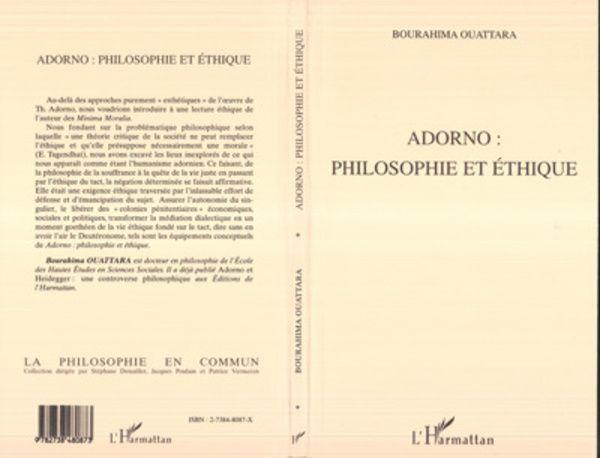 ADORNO : PHILOSOPHIE ET ÉTHIQUE
